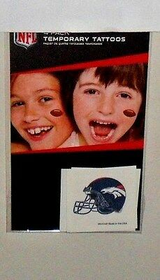 NFL DENVER  BRONCOS 4 TEMPORARY TATTOOS FAST FREE SHIPPING