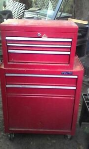 4 foot tall tool box with tools