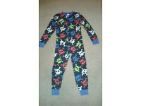 Boys fleece all in one, Age 8-9 years