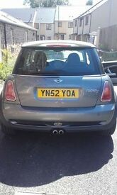 Mini Cooper S, 52 plate -gun metal grey