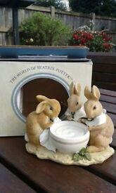 World of Beatrix Potter figurine, Flopsy, Mopsy & Cottontail