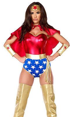 Sexy Forplay Super Seductress Comic Super Hero Wonder Woman Costume 6pc Set
