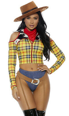 Woody Costume Women (Sexy Forplay Playtime Sheriff Cowboy Woody Costume)
