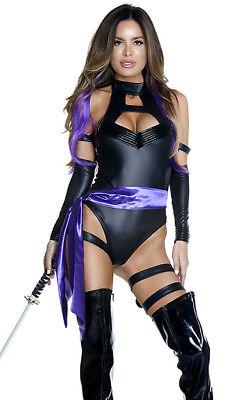 Forplay Sexy Karate Chop Ninja Psylocke Comic Superhero Bodysuit Costume - Woman Ninja Costumes