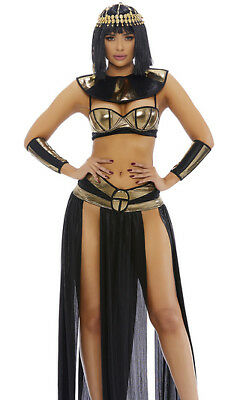 Sexy Forplay Eygptian Pharoah To You Black & Gold 4pc Cleopatra Costume - Forplay Costumes