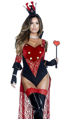 Forplay Royal Treatment Queen of Hearts Bodysuit 2pc Deluxe Costume 557739