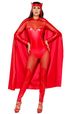 Forplay Fiery Force Superhero Marvel Comics Scarlet Witch Red Catsuit Costume - Marvel Scarlet Witch Costume