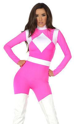 Forplay Supreme Pink Power Ranger Catsuit Superhero Costume - Pink Superhero