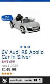 Kids Ride On Audi R8 Spyder Silver