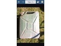 jerry cans 20 litre metal £7 for both