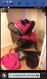 Oyster 2 with fur and bow Excellent condition