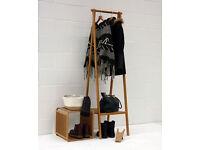 FUTON COMPANY Bamboo Folding Wardrobe (heavy duty clothes Bamboo hanging rail)