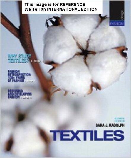 Textiles by Sara J. Kadolph, Anna L. Langford (2010)(Int' Ed Paperback)11 Ed
