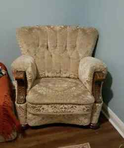 Two old identical chairs need new home
