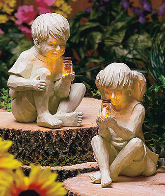 BOY GIRL SOLAR FIREFLY BUG JAR LIGHT ...