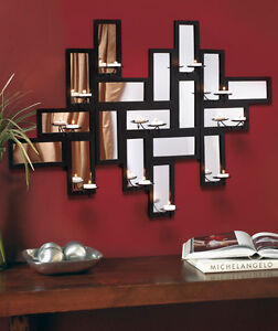 big square mirror modern art candle holder wall sconce wholesale lots available ebay. Black Bedroom Furniture Sets. Home Design Ideas