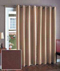 112 Blackout Curtain Panel Drape Valance Grommet Window Patio Door Brown Sage Ebay