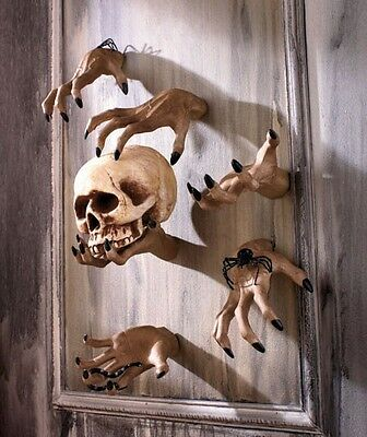 SCARY SPOOKY CREEPY HAND WALL HANGER  INDOOR OUTDOOR DECOR. **HARD TO FIND**](Outdoor Halloween Decorations)