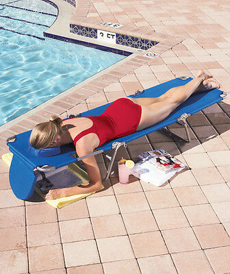 Ostrich Folding Chaise Lounge Reclining w/ Cushioned Face Hole Beach Pool Patio  ()