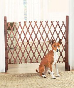 Expandable Wooden Pet Gate