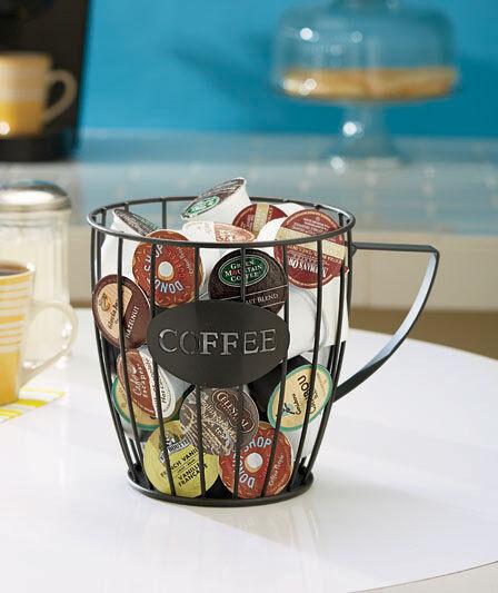 Kitchen Counter Keurig K Cup Holder Coffee Pod Holder Storage Bin Basket