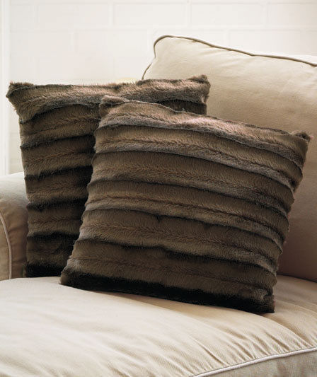 Fur Decorative Pillows for a Master Bedroom