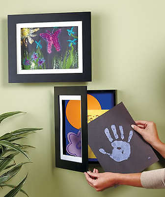 SHADOW BOX EASY CHANGE ART WORK WALL FRAME PICTURE PHOTO Display Kid Mom Gift