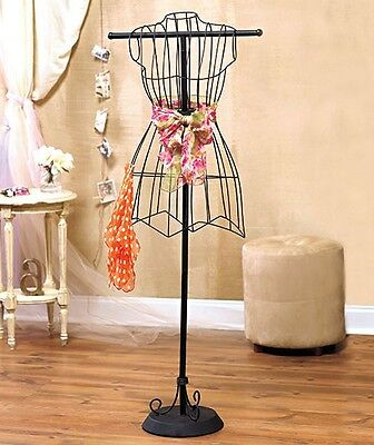 Black Metal Vintage Style Boutique Dress Form Mannequin Boutique Sewing Stand