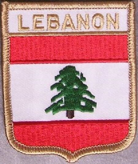 Embroidered International Patch National Flag of Lebanon NEW bunting