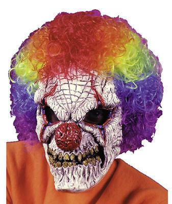 HALLOWEEN ADULT CLOWN COLOR WIG JUGGALO ICP MASK PROP  - Juggalo Halloween