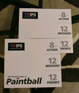 IPG Paintball Tickets for cheap! 24 in total!