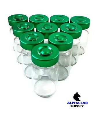 5ml Sterile Clear Glass Vials - 10 Pack - Free Shipping