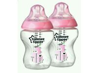 4 x Brand new tommee tippee bottles