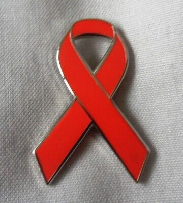 ****NEW**** Stroke Awareness red ribbon enamel pin badge / brooch. Charity. (Stroke Awareness Ribbon)