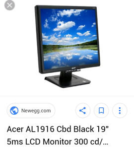 """Acer 19"""" LCD PC Monitor"""