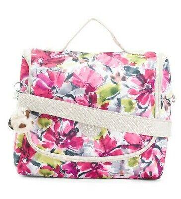 Kipling Kichirou  Insulated Lunch Bag Tote Floral Blushing Posies  NWT