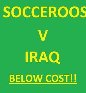 1-8 SOCCEROOS V IRAQ WORLD CUP QUAL FOOTBALL TICKETS Leederville Vincent Area Preview