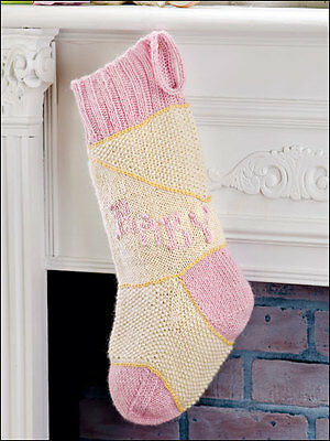 Christmas Stockings Many Cute Holiday Designs Knit Felted Knitting Pattern Book