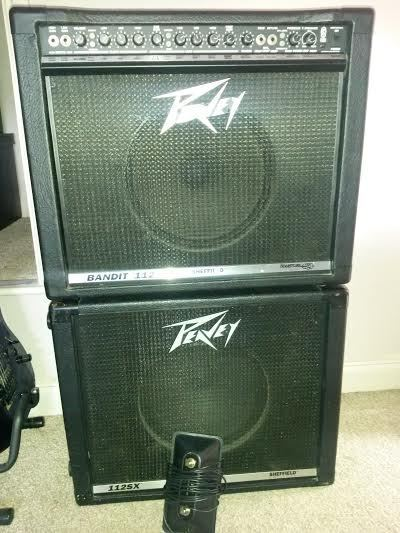 peavey bandit 112 transtube guitar amplifier 112sx extension cabinet in plymouth devon. Black Bedroom Furniture Sets. Home Design Ideas