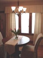 Great curtains and window treatments.