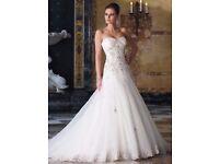 Designer Sophia Tolli Liv Wedding Dress - All White - Size 8/10