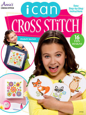 I Can Cross Stitch Annies Patterns How To Beginners Kids Designs Easy