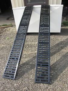 2 GALVANISED RAMPS 6FT L FOR LOADING ATV, LAWN MOWER, MOTORCYCLE