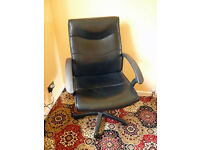 BLACK FEUX LEATHER OFFICE CHAIR