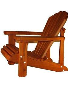 Solid Canadian cedar wood Adirondack Muskoka chair outdoor furniture - FREE SHIPPING
