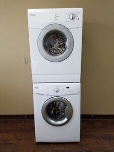 "Free delivery! Whirlpool 24"" stackable washer dryer"