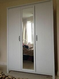 Brand New Ikea BRUSALI Wardrobe with 3 doors, white
