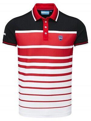Bunker Mentality CMax Vegas Golf Polo Stripe Shirt Top Sport Apparel