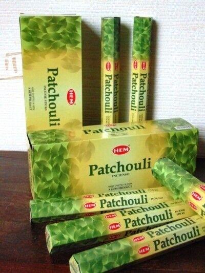 encens patchouli 20 bâtonnets hem hexa 1 boîte ou lot de 2/3/4/5/6 boîtes