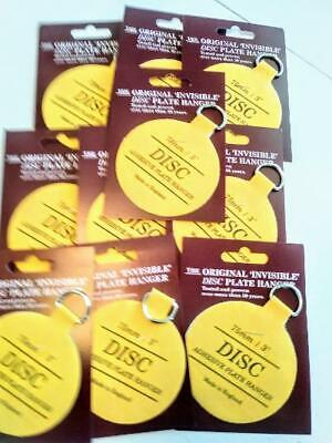 Original Invisible Disc Adhesive Plate Hangers Set of Ten 3 Inch      35 product